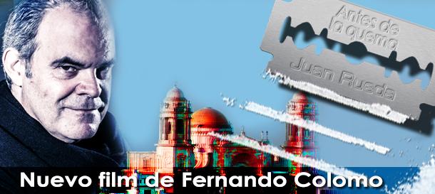 Juan Rueda en el rodaje de la nueva película de Colomo