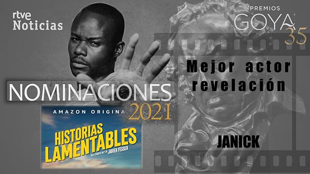 Premios Goya 2021 Nominación Mejor Actor Revelación Janick 2management